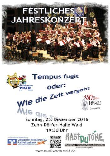 Festliches Jahreskonzert des Musikvereins Wald e.V.