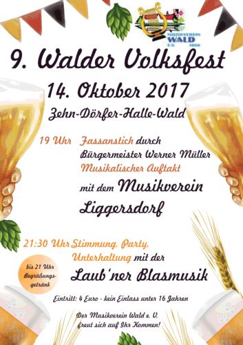 9. Walder Volksfest