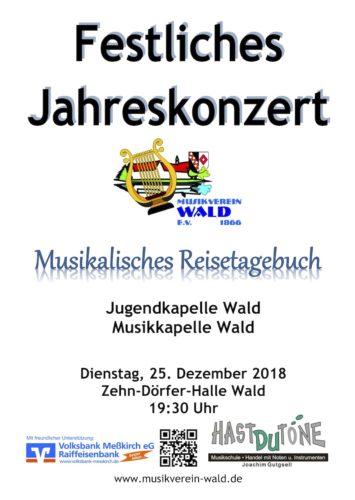 Festliches Jahreskonzert 2018 des Musikvereins Wald e.V.