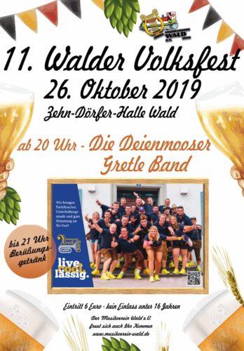 11. Walder Volksfest 2019 - Musikverein Wald e.V.