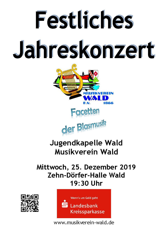 Jahreskonzert_2019_Musikverein_Wald_Plakat